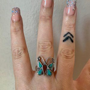 Jewelry - Size 6 Vintage Navajo Butterfly Ring